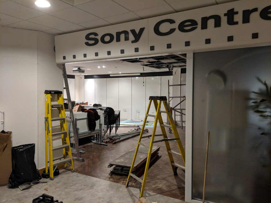 Sony shop, commercial painting and spray painting